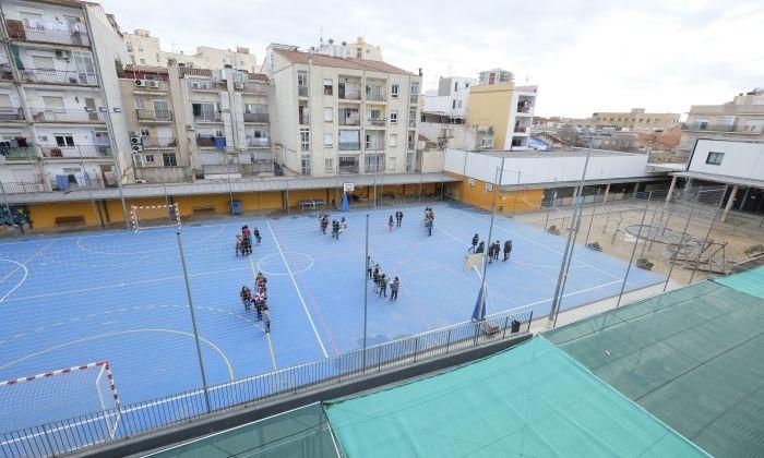 Pati de l'escola Montserrat Solà. Foto: R. G.