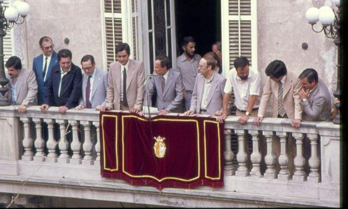 La Crida de l'any 1979, amb l'alcalde Joan Majó. Foto: Josep Maria Clariana (cedida per Cultura Mataró)