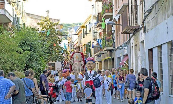 Els gegants, a la festa del municipi, La Minerva