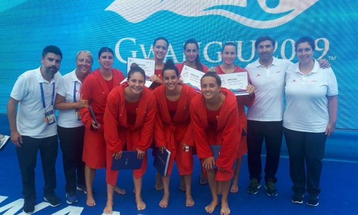 L'equip espanyol de waterpolo platja. Foto: rfen