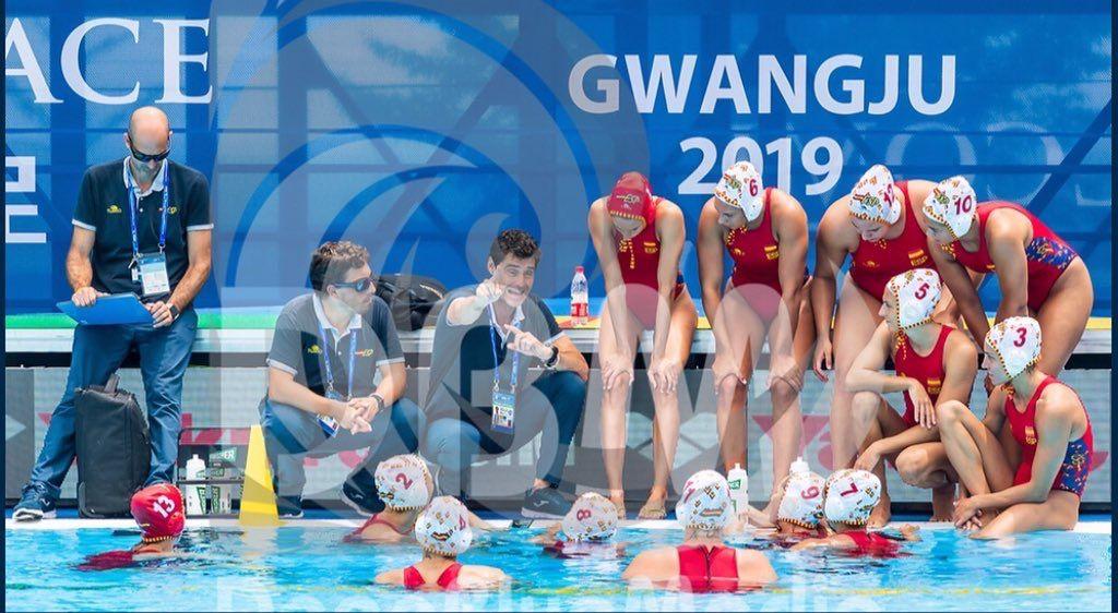 La selecció espanyola a Gwangju. Foto: rfen