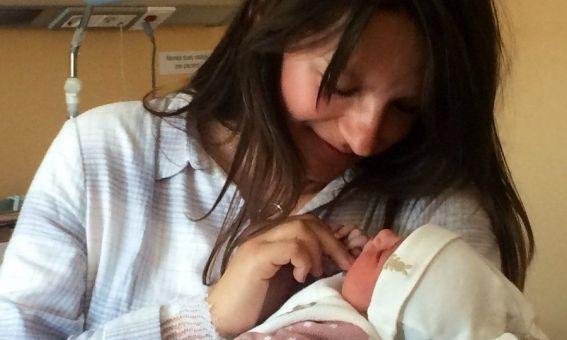 La Laia, primera nadó de l'any 2019 a Mataró. Foto: Ajuntament