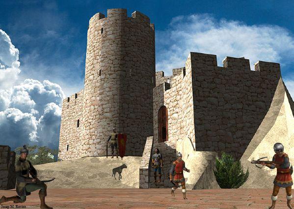 Il·lustració del Castell de Burriac del llibre 'La Vall de Cabrera de Mar a l'època medieval, el Castell de Burriac en 3D', coordinat per Josep Maria Rovira