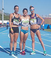 Raquel González i les altres atletes del podi. Foto: rfea