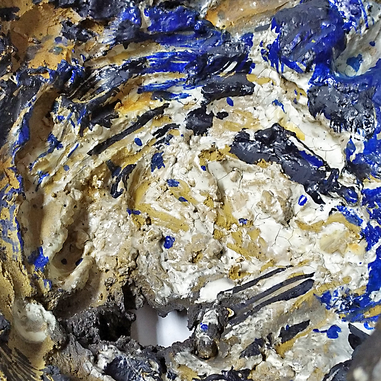Una de les obres de la mostra 'Matèria i atzar' de Joan Poch