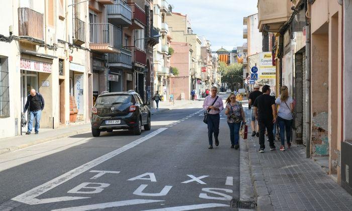 El tram del Camí Ral que es vol reformar. Foto: R.Gallofré