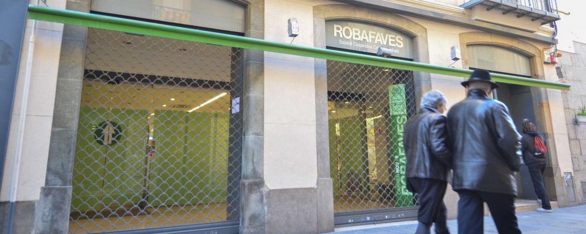 Local de l'antiga llibreria Robafaves. Foto: Arxiu