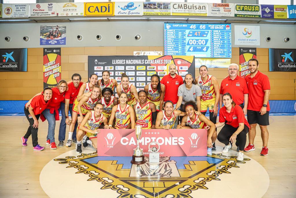 Les campiones de la Lliga Catalana. Foto: unigirona.cat