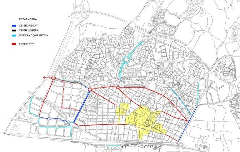 Mapa dels nous carrils