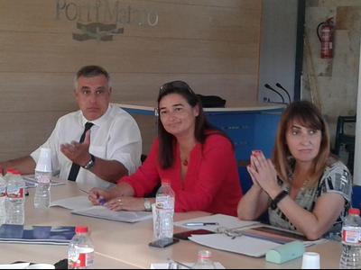 La nova gerent del Port (al centre). Foto: Generalitat