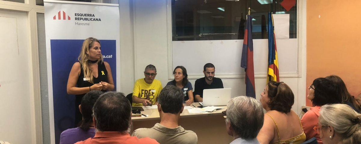 Anna Salicrú, durant l'assemblea local. Foto: ERC