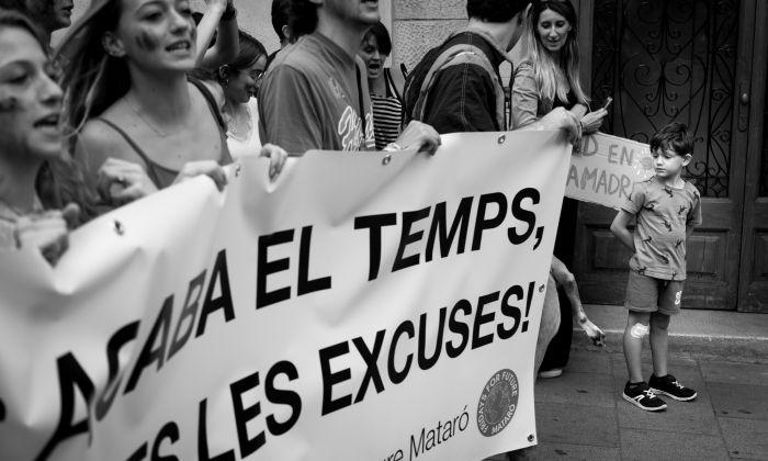 Una manifestació a Mataró. Foto: Eusebi Escarpenter