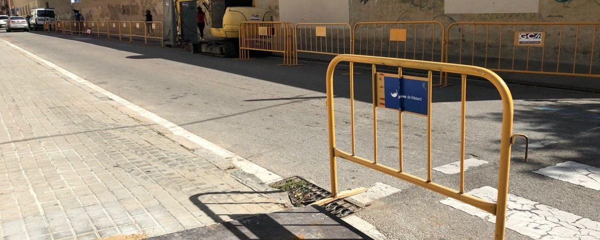 Obres al carrer Castaños. Foto: Ajuntament