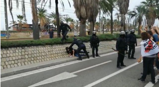 Captura de vídeo de la detenció de Juli Cuéllar