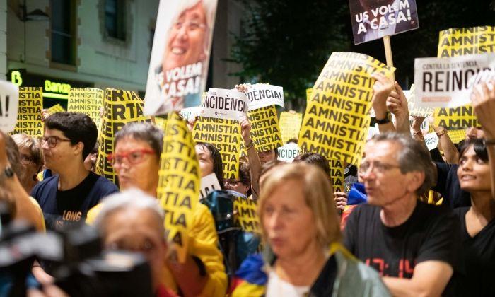 Una de les protestes d'aquests dies a Mataró. Foto: R.Gallofré