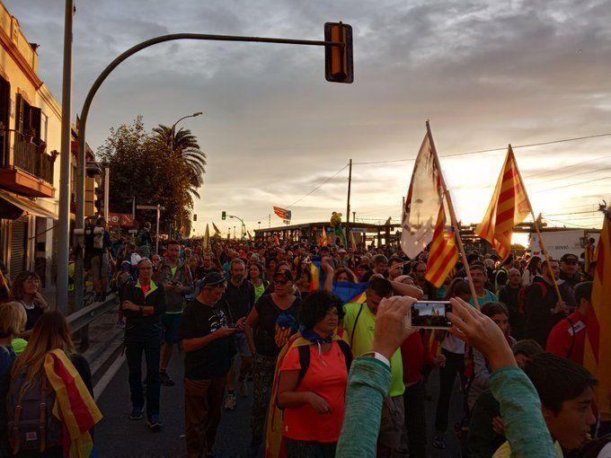 Participants a la marxa, aquest divendres al matí. Foto: ANC