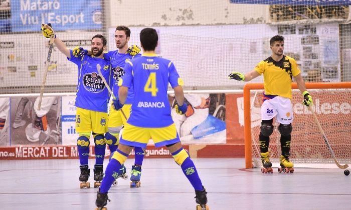 El conjunt gallec celebra un gol. Foto: R.Gallofré
