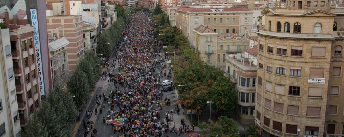 Un instant de la vaga del 18-O. Foto: ACN