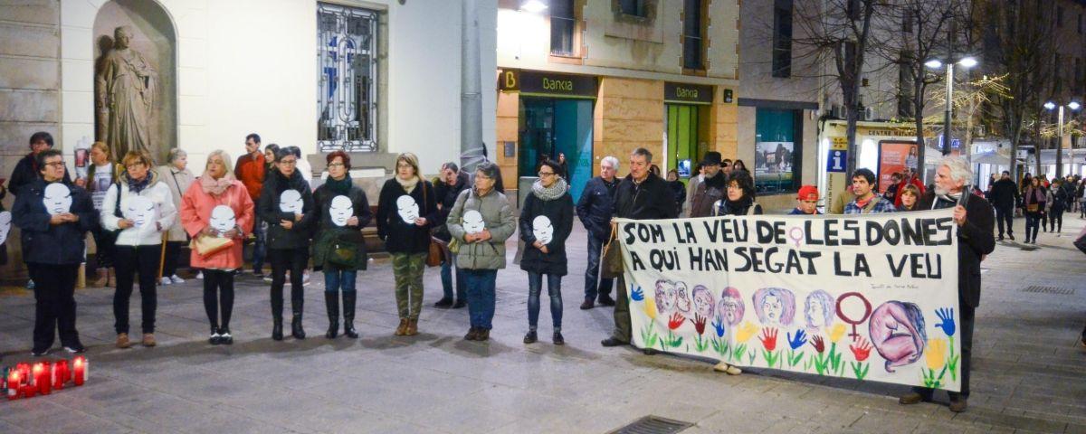 Una protesta contra la violència masclista. Foto: R.Gallofré