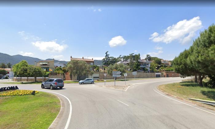 La carretera al seu pas per ARgentona. Foto: Google