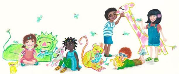 Un dels dibuixos de l'àrea de pediatria