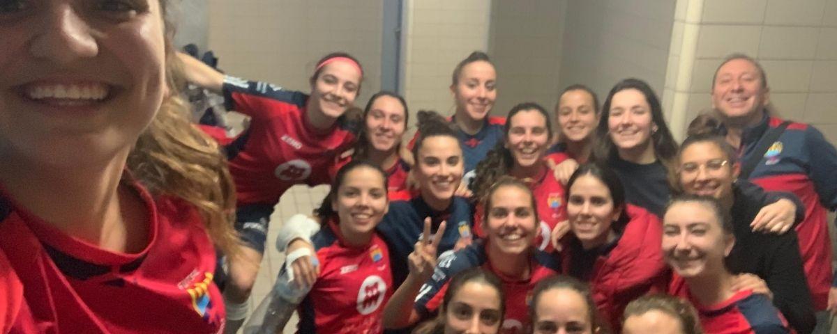 Imatge de l'equip en acabar el partit.