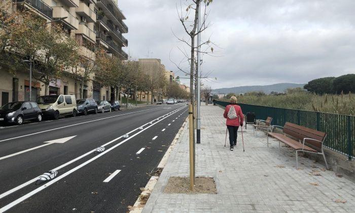 La nova vorera de la ronda Cervantes. Foto: Ajuntament