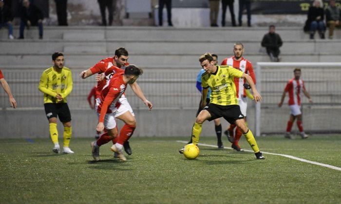 Una jugada del partit a casa contra el Vic. Foto: R.Gallofré