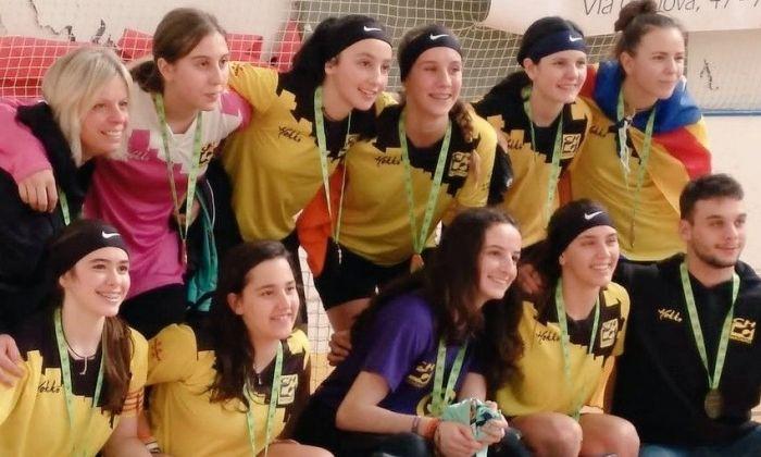 Les campiones sub-17. Foto: CH Mataró.