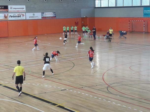 Un instant del matx. Foto: Futsal