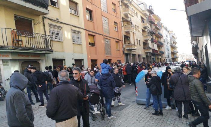 Imatge del carrer Marathon durant el segon desnonament.