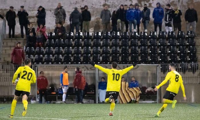 Aitor González celebra el seu gran gol. Foto: R.Gallofré