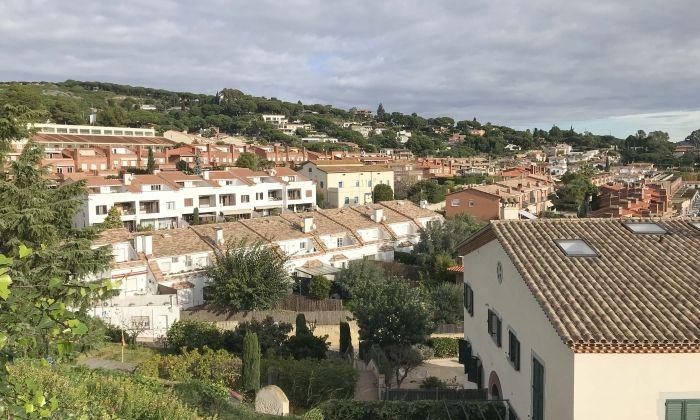 Imatge del poble de Sant Vicenç de Montalt.