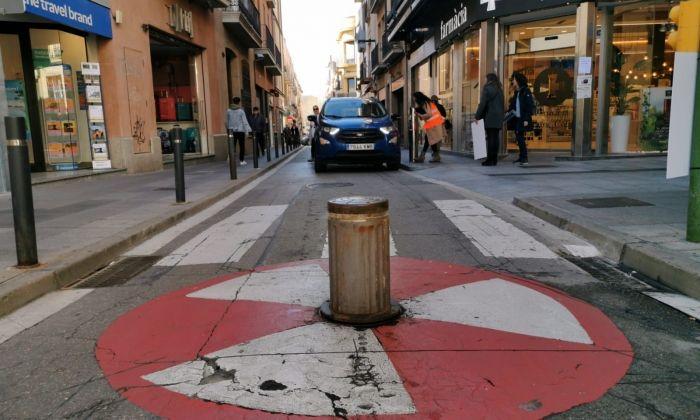 Pilona del carrer Sant Josep. Foto: R. G.