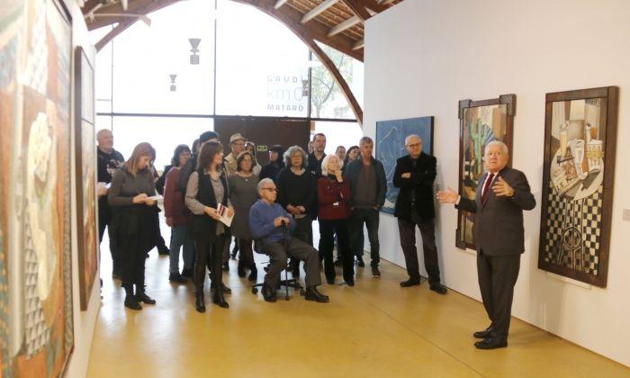 Inauguració de l'exposició de divendres passat. Foto: ACN