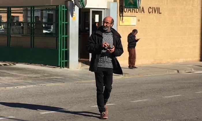 Joan Jubany, sortint de declarar. Foto: CUP Mataró