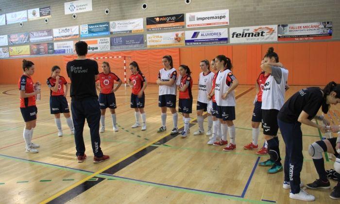 Futsal Aliança Mataró de Segona femenina. Foto: Futsal