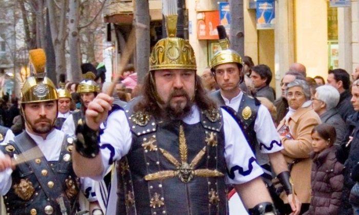 Joan Rovira, en una desfilada dels Armats de Mataró. Foto: cedida