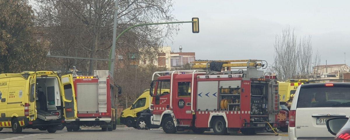 Accident al Camí del Mig. Foto: Raúl Yeste