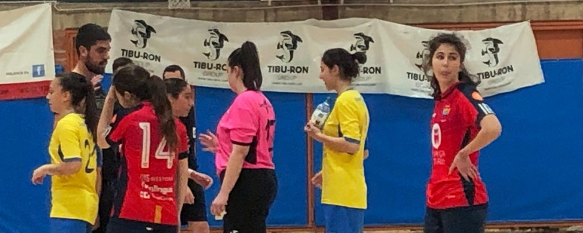 Una imatge del Futsal femení  Castelldefels.