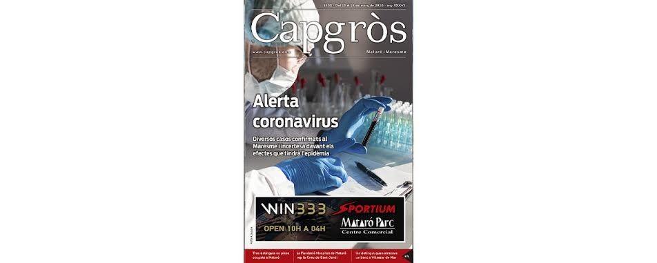 Portada del Capgròs dedicada al coronavirus.