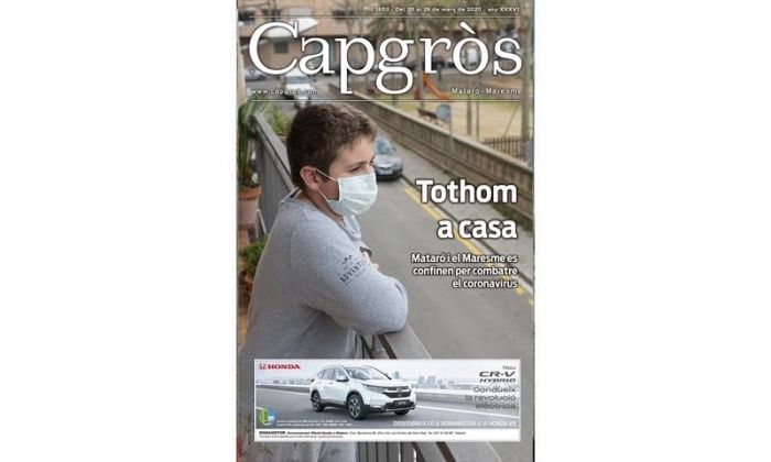 Portada del Capgròs, revista dedicada al coronavirus.