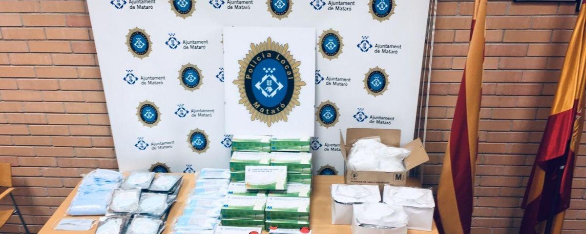 Material decomissat per la Policia Local. Foto: Ajuntament