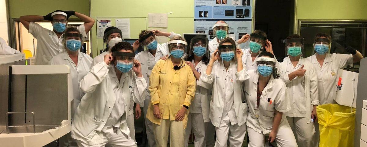 L'equip de radiologia de l'Hospital. Foto: @mampares