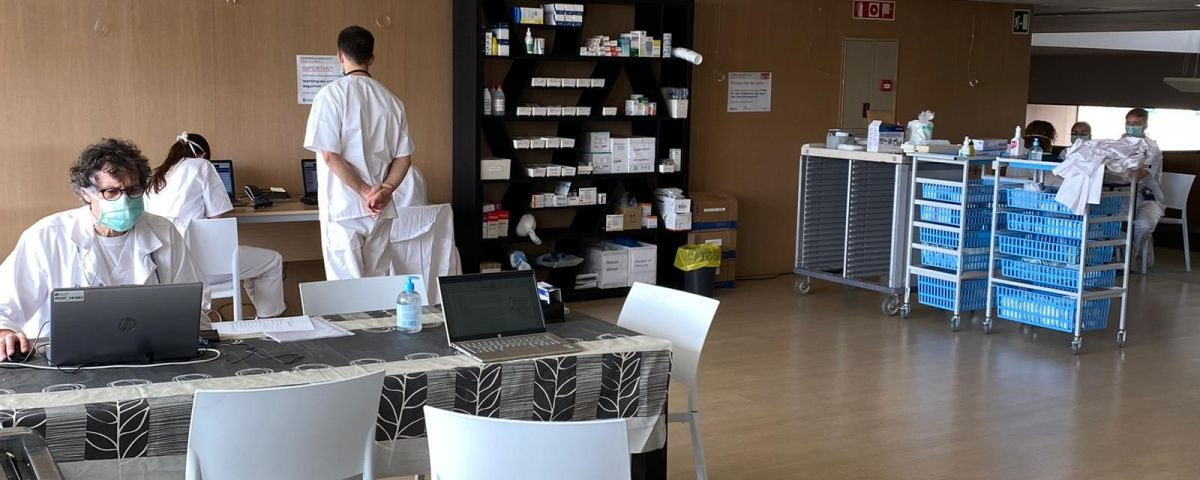 L'Hotel Atenea, convertit en hospital de suport. oto: CSM