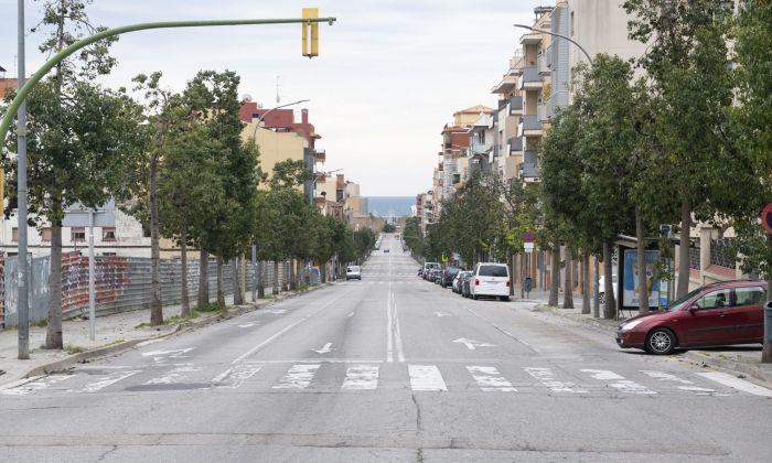Carrers sense vehicles pel confinament. Foto  R.Gallofré