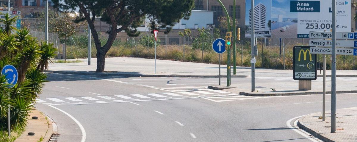 La mobilitat segueix restringida pel confinament a Mataró. Foto: R.Gallofré