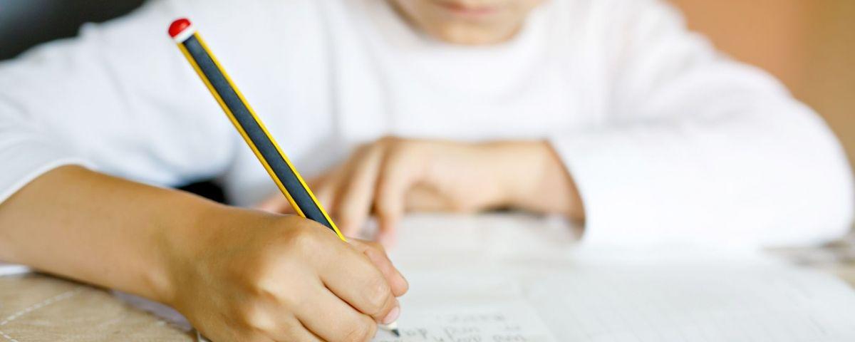 Un nen fent activitat escolar a casa. Foto: Arxiu