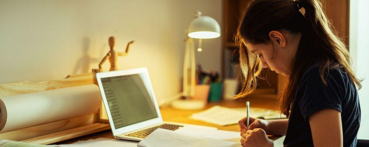 Estudiant des de casa. Foto: Arxiu