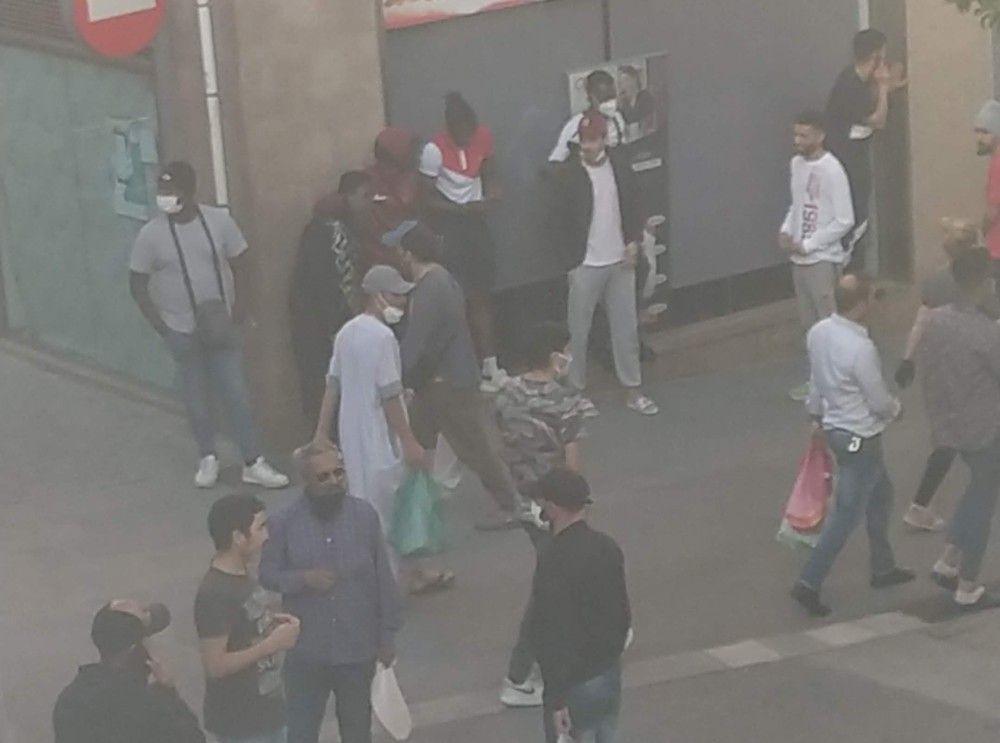 El carrer Rosselló, durant el confinament. Foto: Cedida